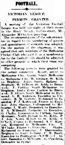 The Argus, 25 April, 1912, p5. Accessed on Trove at  http://trove.nla.gov.au/ndp/del/article/11670383