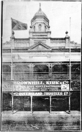 Arcade building and premises of Brownhill, Kirk and Company, Market Reserve Building, Flinders Street, 1913. Photographer unknown. City Libraries Townsville, 323846.